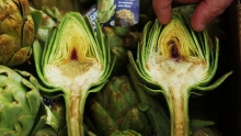 The Market Review - Frost Kissed Artichokes & Ebony Queen Plumcots