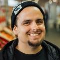 Organic produce seller Justin Andrighetto